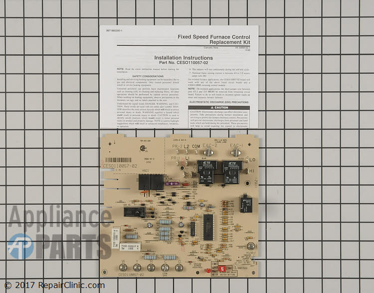Control Board CESO110057-02 Alternate Product View