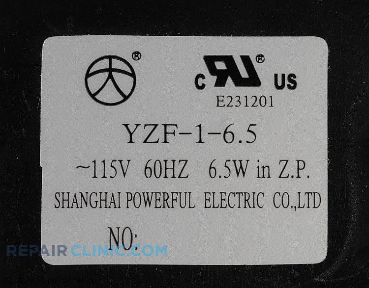 Evaporator Fan Motor 502404000139    Alternate Product View