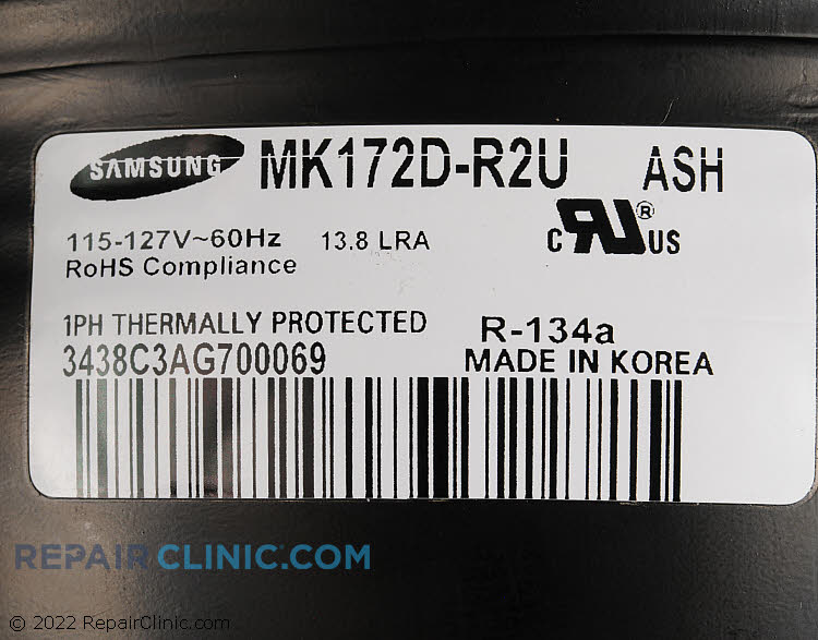 Compressor MK172DR2U/ASH Alternate Product View