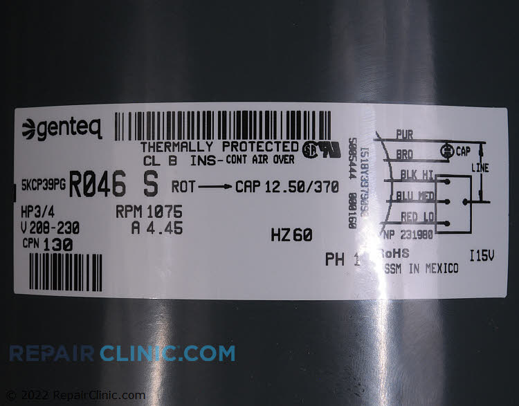 Blower Motor S1-02425371700 Alternate Product View