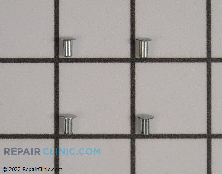 Rug plate hinge rivet