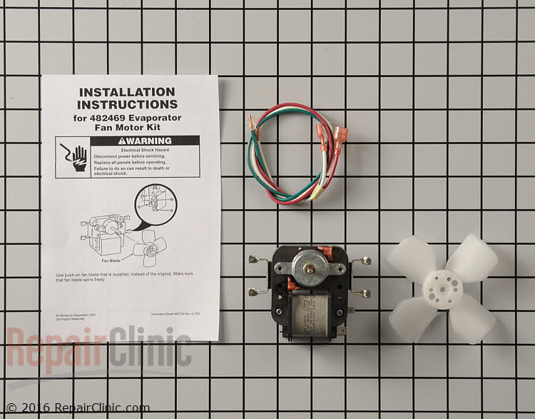 Evaporator fan motor 482469 for Evaporator fan motor troubleshooting