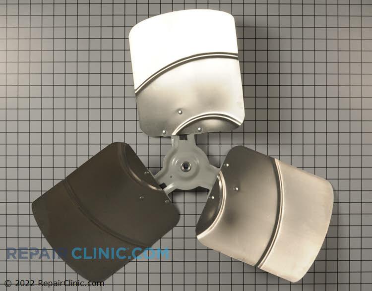 "3 Blade aluminum fan blade , 27.6"" Diameter, 18 degrees of pitch"