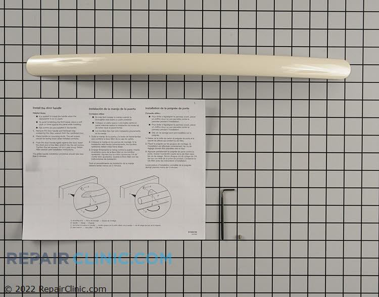 Dishwasher door handle kit, biscuit