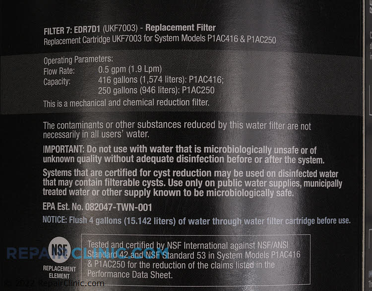 Water Filter EDR7D1          Alternate Product View