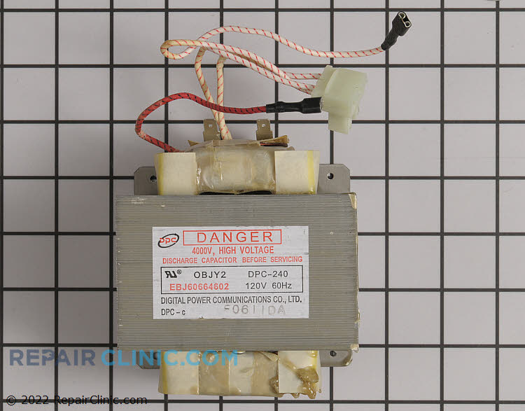 High Voltage Transformer EBJ60664602 Alternate Product View