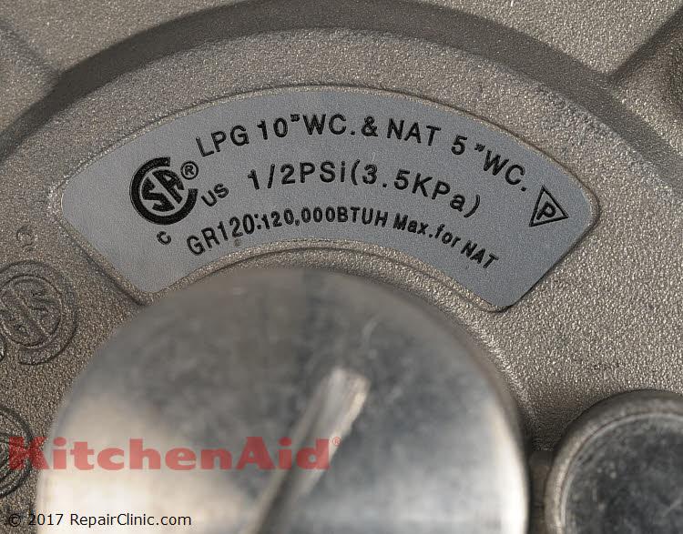 Pressure Regulator W10661850 Kitchenaid Replacement Parts