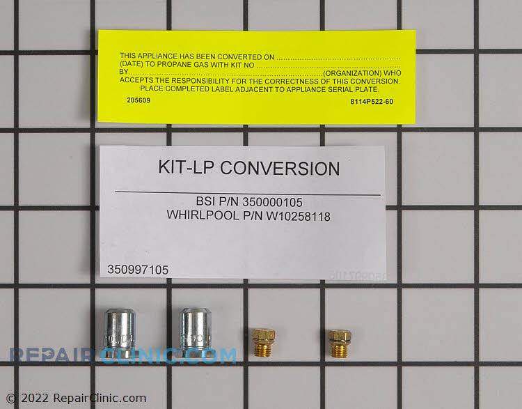 Conversion kit Natural to LP gas