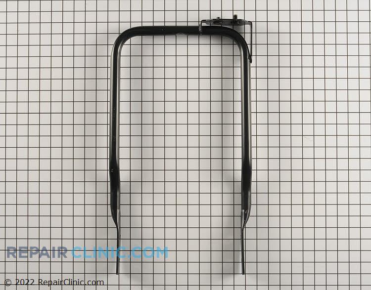 Handle with rotator mounting bracket, black