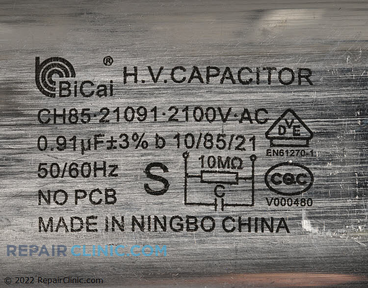 High Voltage Capacitor 0CZZW1H004T     Alternate Product View