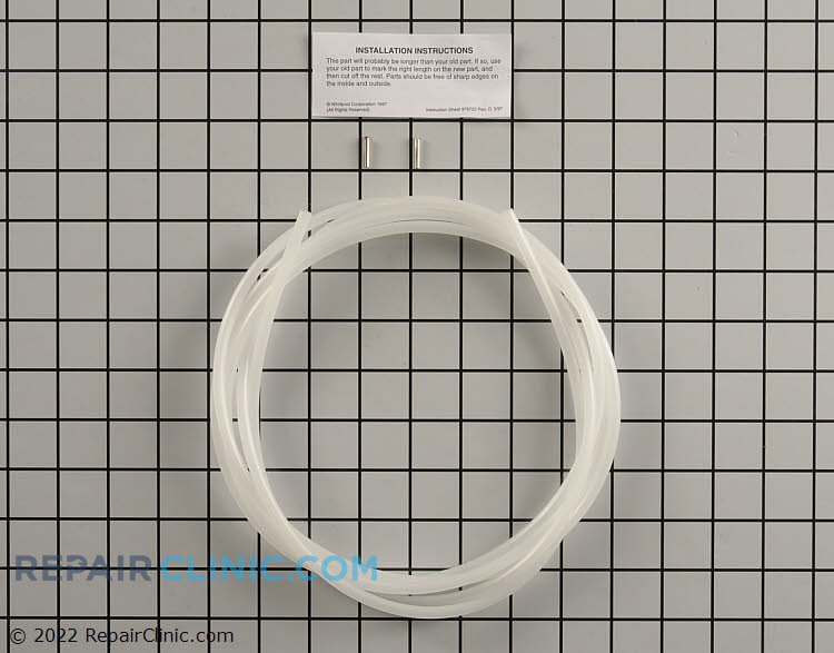 1/4 inch plastic water line kit, approximately 72 inches. Tubing will need to be cut to match existing length.