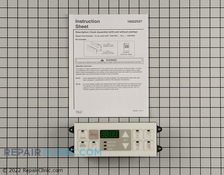 Oven Control Board WP12001627 Alternate Product View