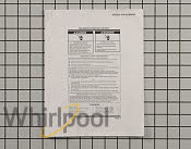 Tech Sheet - Part # 4449842 Mfg Part # W10280489