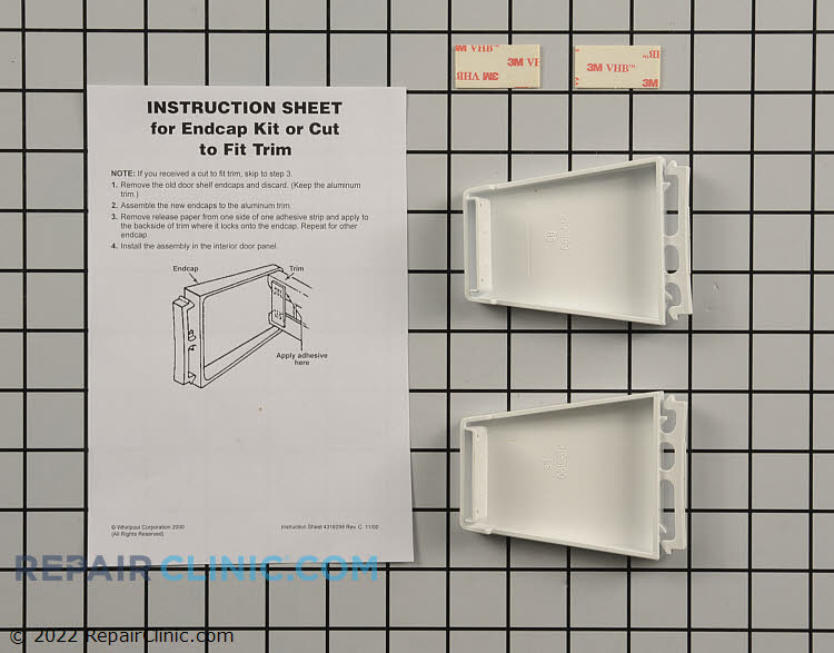 Shelf Retainer Bar Support 4388286 Alternate Product View