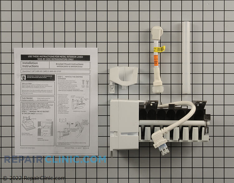 Ice Maker Assembly WR30X10093 Alternate Product View