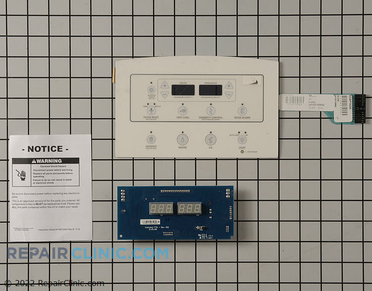 Dispenser Control Board W10882877 Alternate Product View