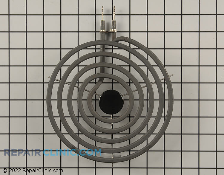 8 Inch electric coil surface element with looped terminals, 2600 watts. 5 turns. If the surface element does not have continuity (an unbroken electrical circuit), the surface element won't heat.