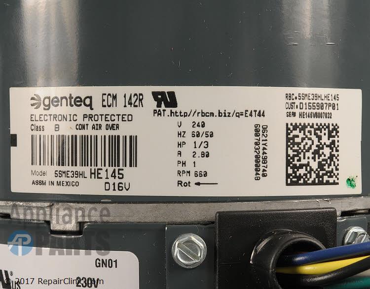 Condenser Fan Motor MOT13277   Appliance Parts