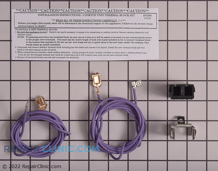 Element Receptacle and Wire Kit WB17X210 Alternate Product View