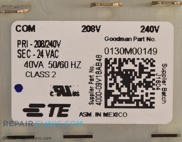 goodman transformer. transformer 0130m00149 alternate product view goodman