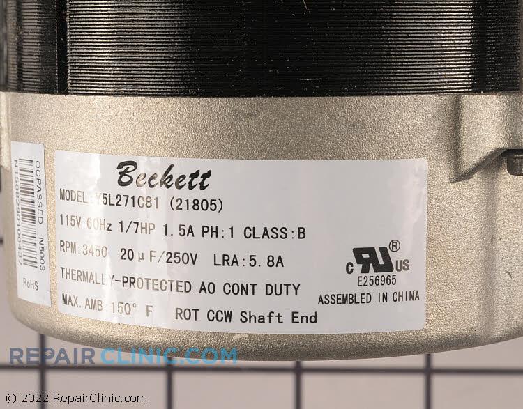 Fan Motor 21805U Alternate Product View