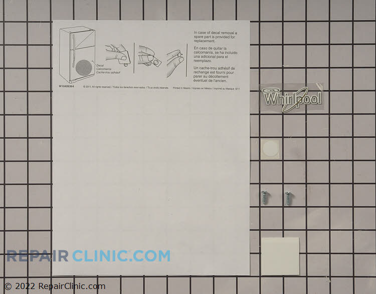 Door Reversal Kit W10437912 Alternate Product View