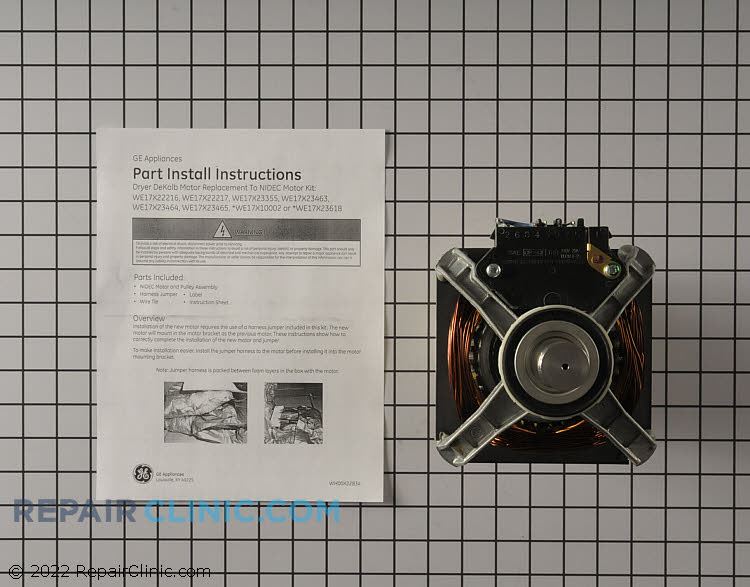 Drive Motor WE17X22217      Alternate Product View