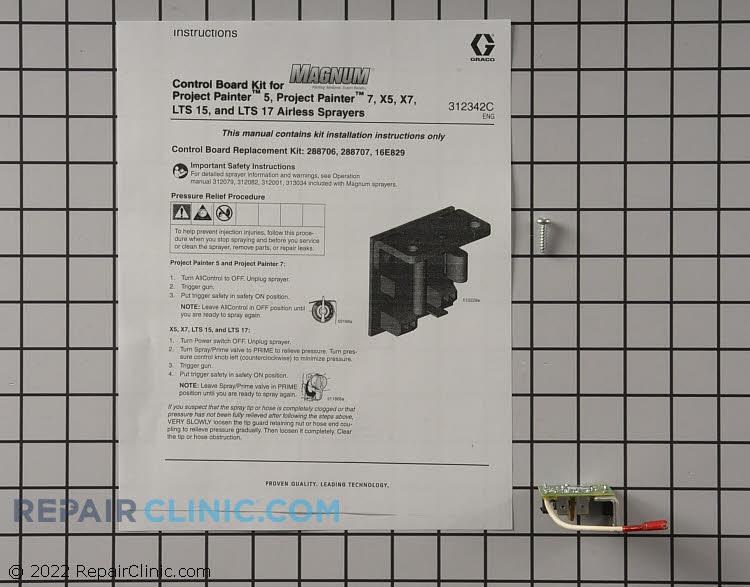 Kit, repair,control board 16E829 Alternate Product View