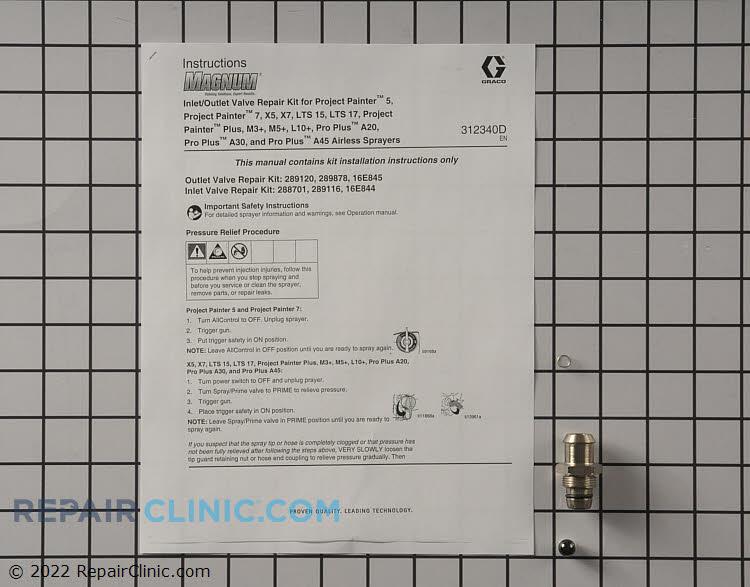 Kit, repair,pump, inlet valve 16E844 Alternate Product View