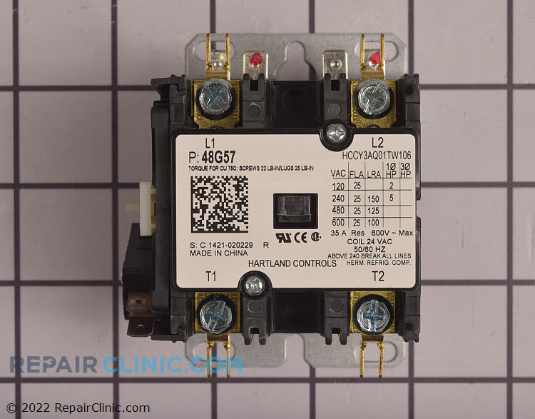 Contactor  48G57   Fast Shipping  RepairClinic