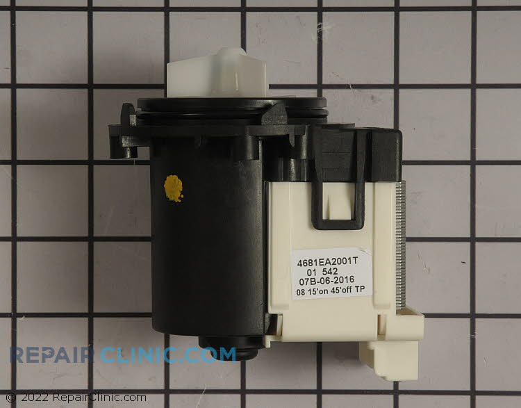 Washing machine drain pump. If the washer does not drain then the drain pump may be clogged, damaged, or defective.