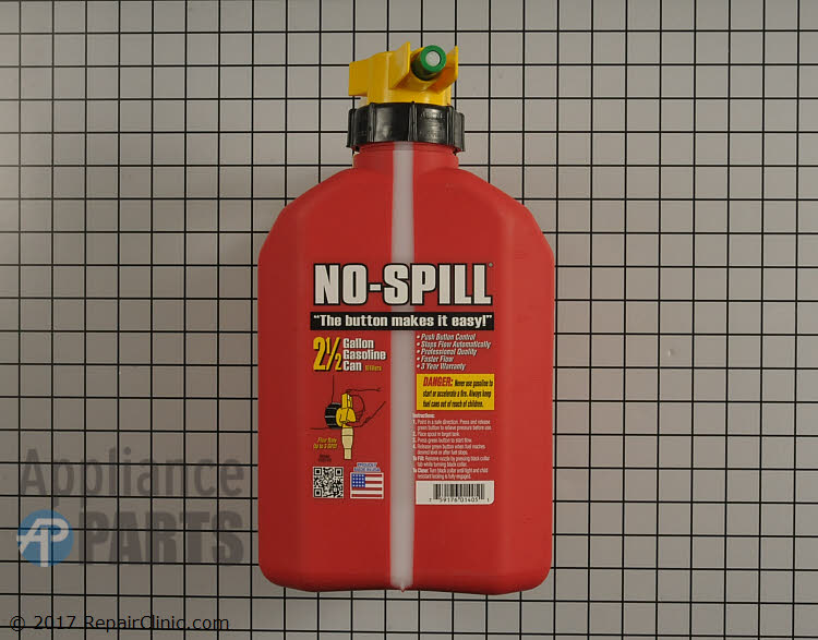 No-spill gas can (2.5 gallon) 1405 Alternate Product View