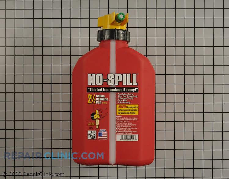 No-spill gas can (2.5 gallon)