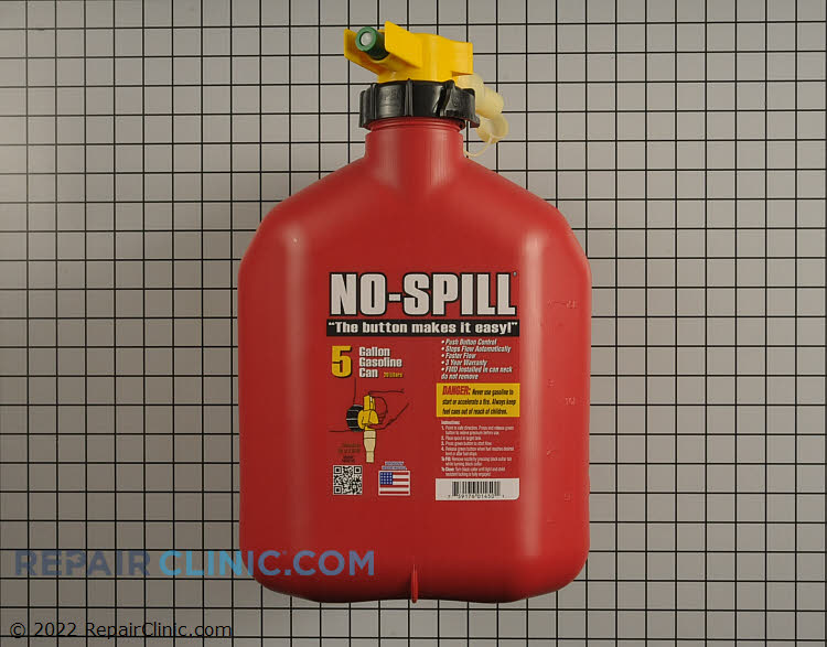 No-spill gas can (5 gallon)