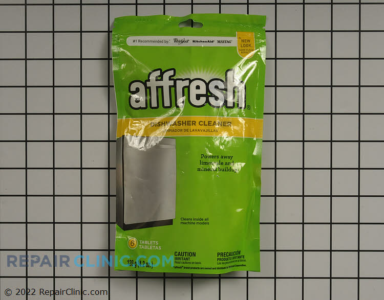 Power away-the right way. Affresh® Dishwasher Cleaner is specially formulated to help remove limescale and mineral build-up that can be unsightly and could affect your dishwasher's performance. Pouch contains 6 tablets.