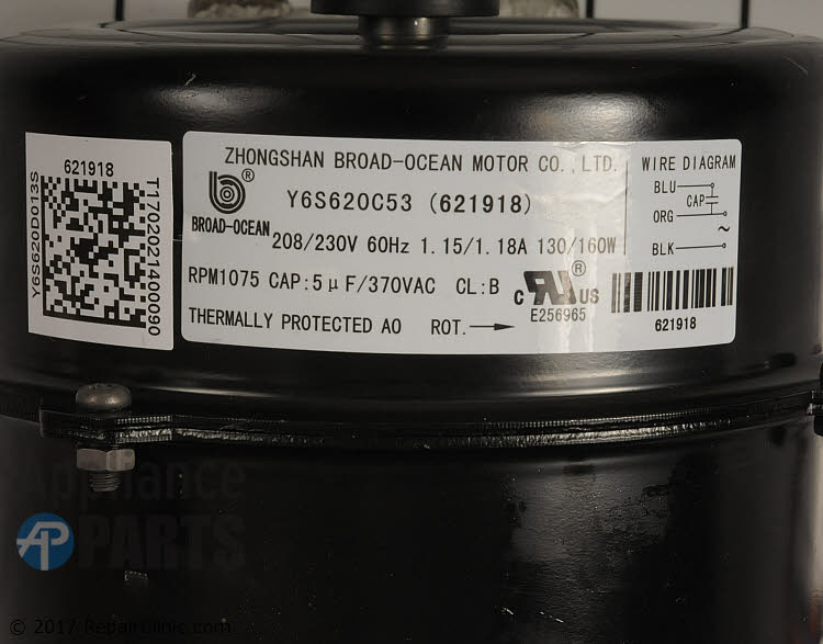 Condenser Fan Motor 621918 Alternate Product View