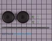 Wheel & axle assy - Part # 1661794 Mfg Part # 60161