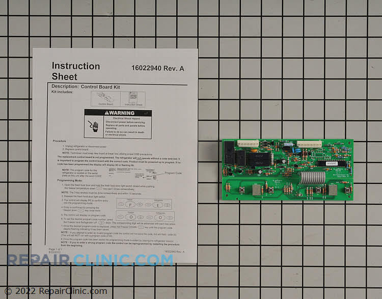 Main Control Board WP12784417 Alternate Product View