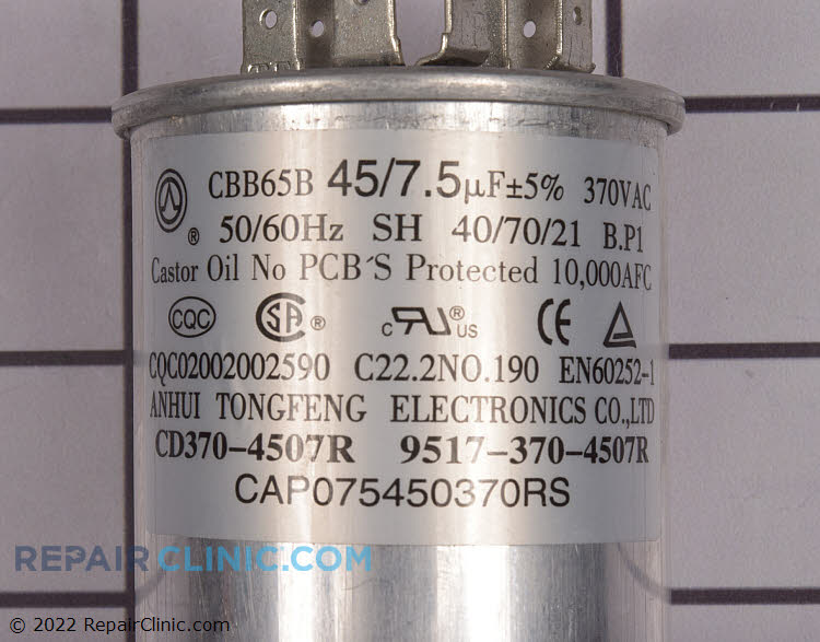Run Capacitor CAP075450370RSS Alternate Product View