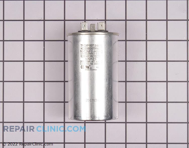 TRADEPRO® Dual run capacitor, round, 50+7.5 MFD, 440 volts