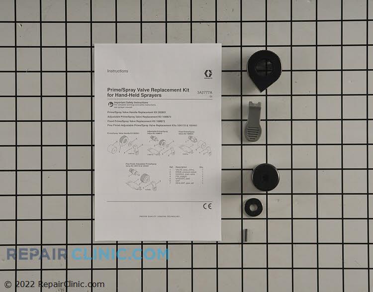 Kit,repl,hdl,prime valve,gray 262604 Alternate Product View