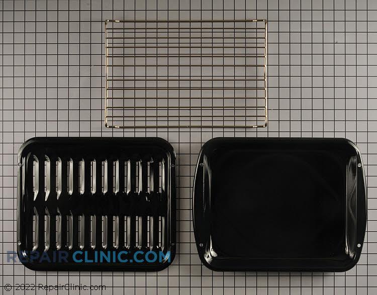 Broiler pan and roasting rack set