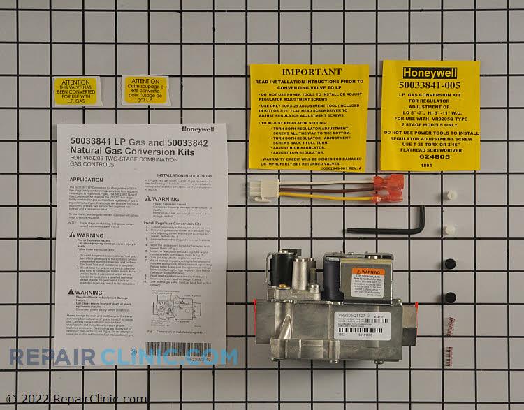 Gas valve kit, repl, vr8205q to vr9205q