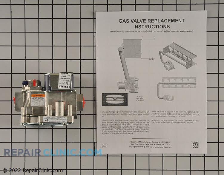 Gas valve w/ instruction