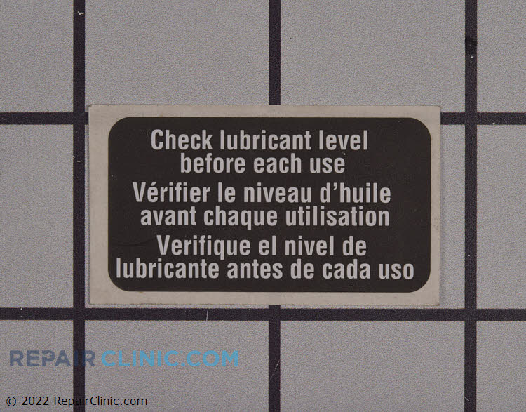 Lubricant label