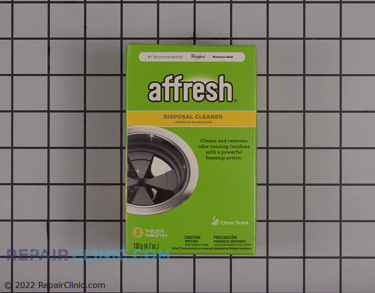 Affresh® Disposal Cleaner 3 tablets. Specially formulated to clean and remove odor causing residues with a powerful foaming action.