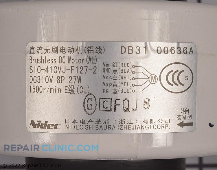 Fan Motor DB31-00636A Alternate Product View
