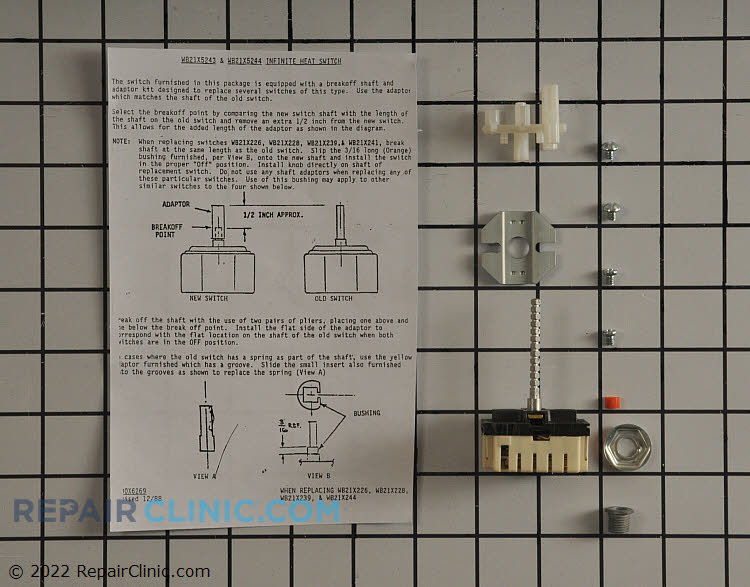 Stove top surface element control switch kit.  If the surface element is not heating the element can be tested to determine if it is defective. If not, the switch is likely causing the problem.
