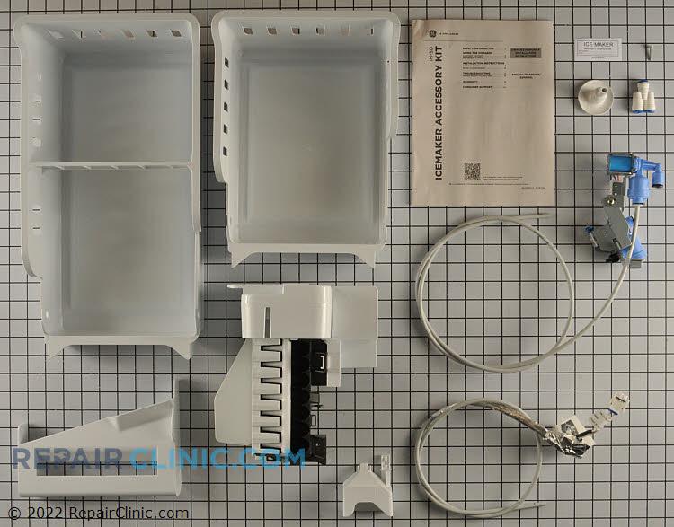 Ice maker assembly kit for bottom freezer refrigerator