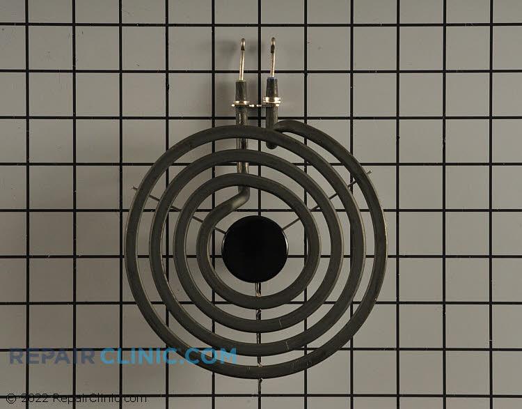 6-inch diameter plug-in surface heating element with looped terminal ends. 4 turn. 1500 Watt. If your surface element won't heat, either the surface element or the surface element switch may be defective. To determine if the surface element is defective, use a multimeter to test it for continuity.